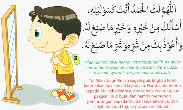 Doa Hendak Mengenakan Pakaian Baru