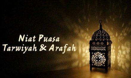 Niat Puasa Tarwiyah 29 Juli dan Puasa Arafah 30 Juli 2020 Sebelum Hari Raya Idul Adha 2020